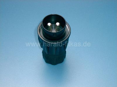 VG 96917 mit Schraubring gummiert bis 42 Volt 300 A NATO Stecker 35² VDA 72593